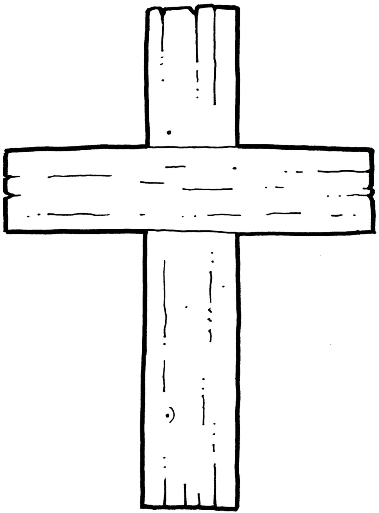 Clipart Cross BW-1
