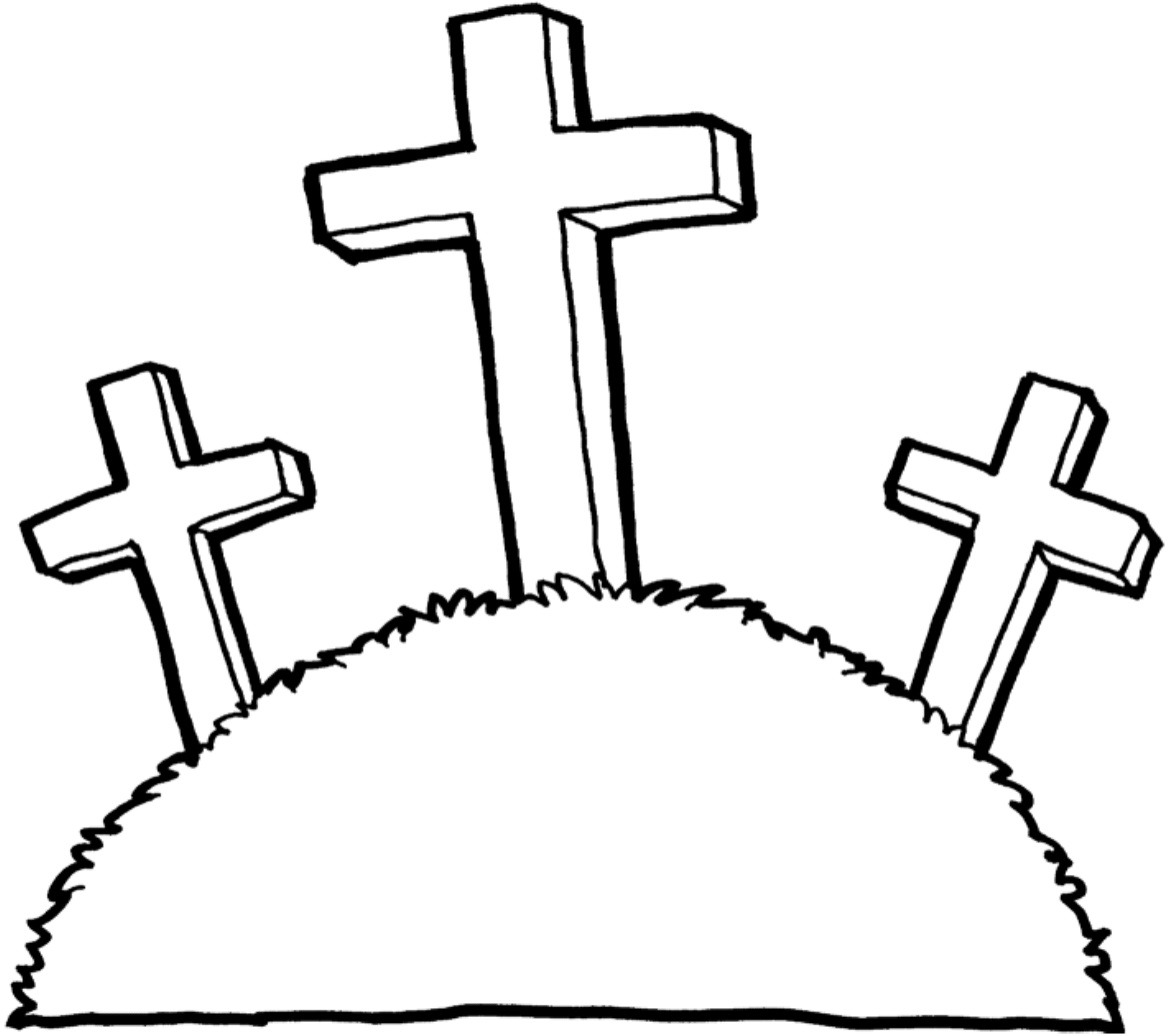 Clipart Crosses BW-1