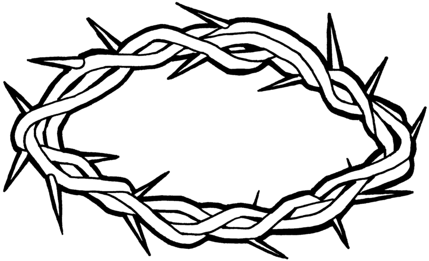 Clipart Crown Thorns BW-1