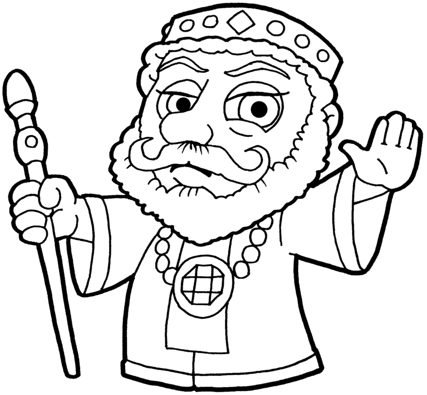 Clipart Herod A BW-1