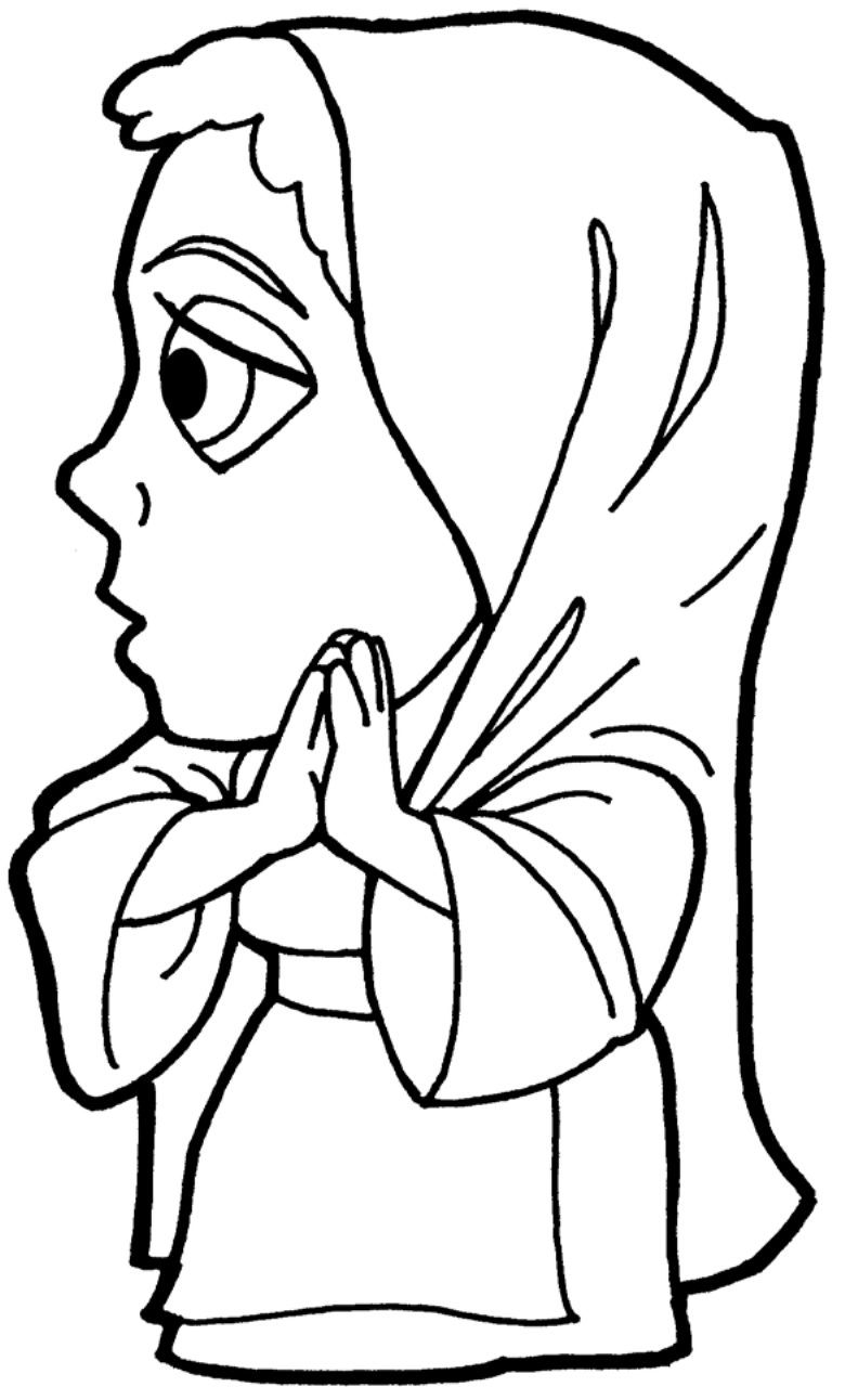 Clipart Mary Magdalene BW-1