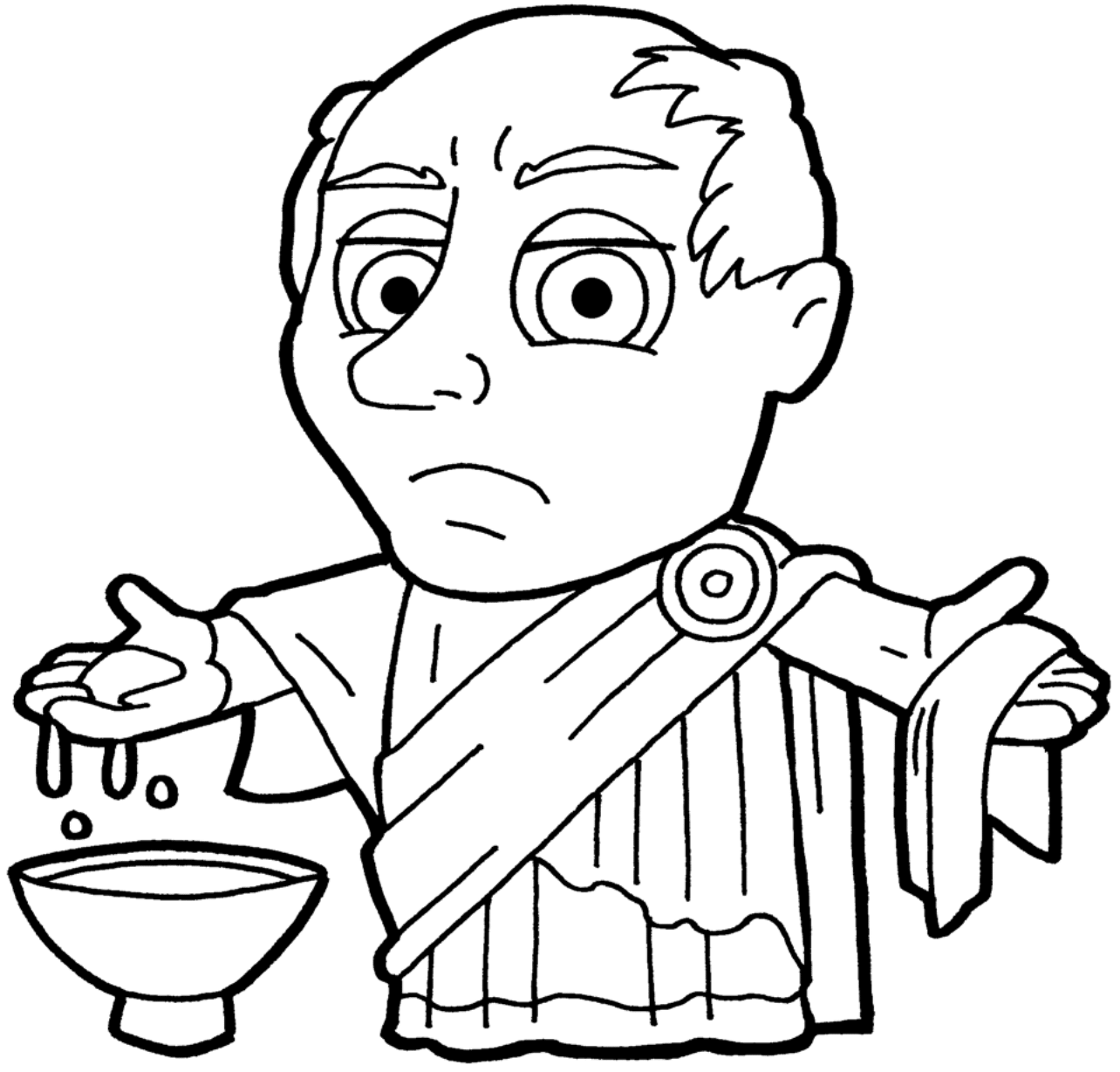 Clipart Pilate BW-1