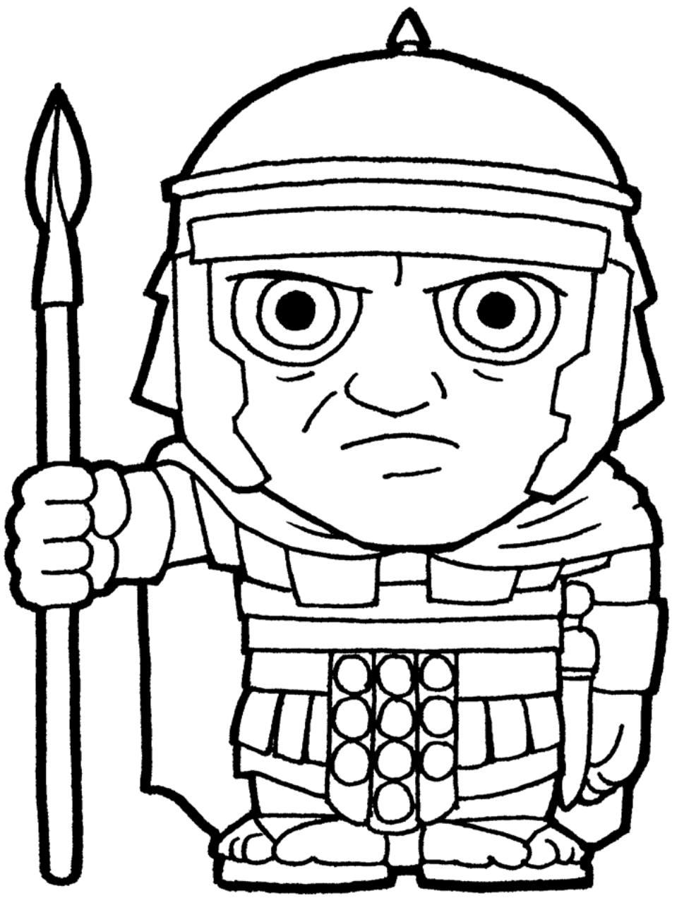 Clipart Roman Soldier BW-1