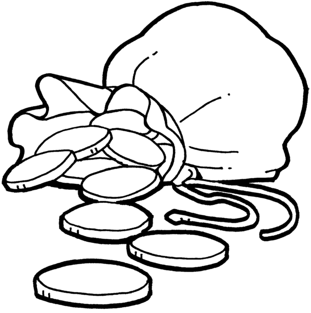Clipart Silver Pieces BW-1